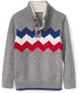 Gap Zigzag-chest mockneck sweater henley