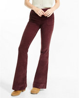 Express high waisted corduory bell flare pants