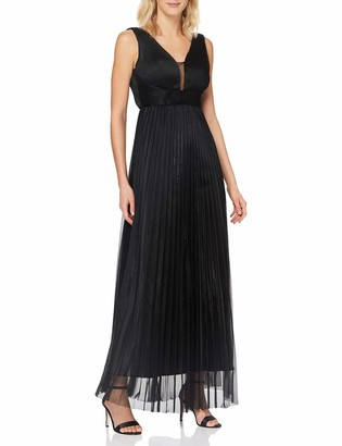 APART Fashion Women's Apart Elegantes Damen Kleid Abendkleid metallischer Glanz V-Ausschnitt mit Mesh Empire-Stil Special Occasion Dress