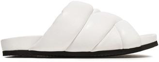 Nicholas Kirkwood Quilted Leather Slides
