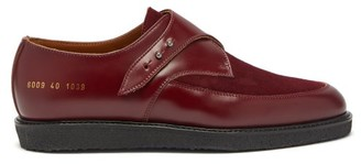 Common Projects Leather And Suede Creeper Loafers - Womens - Dark Red
