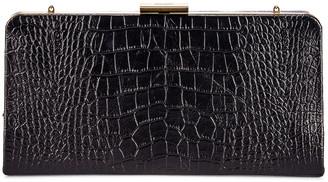 Saint Laurent Croc Evening Bag in Black | FWRD