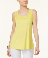 Cable & Gauge Crochet-Trim Tank Top
