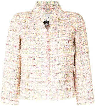 Edward Achour Paris Open Front Tweed Jacket