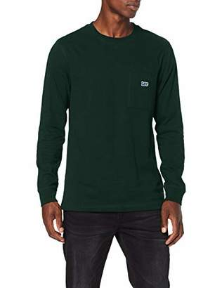 Lee Men's Authentic Pkt T Ls T-Shirt, (Dk Bottle Green Bb), Large