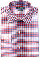 Lauren Ralph Lauren Men's Classic-Fit Non-Iron Red and Blue Multi-Check Dress Shirt