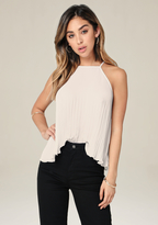Bebe Pleated Trapeze Top