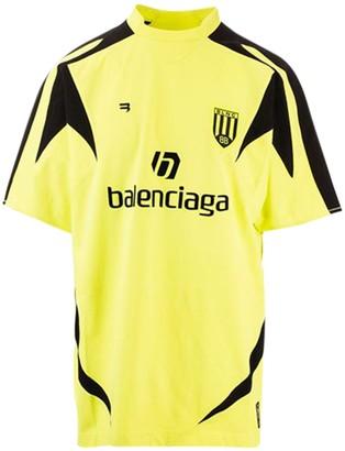 Balenciaga Soccer T-shirt, Acid Yellow
