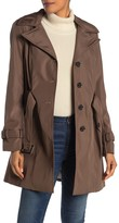 Calvin Klein Front Button Waist Belt Trench Coat