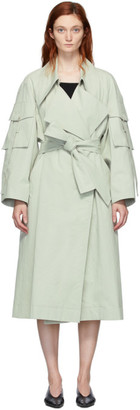 Low Classic Green Sleeve Pocket Trench Coat