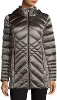 Saks Fifth Avenue Women's Packable Quilted Jacket - Champagne, Size xs [x-small]