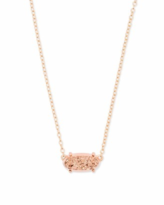 Kendra Scott Ever Pendant Necklace in Iridescent Dichroic Glass 14k Gold-Plated