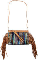 Two Chic Luxe Suede Fringe Clutch