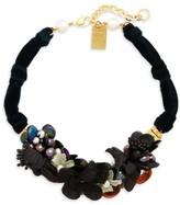 Lizzie Fortunato Women's Grasslands Velvet Collar Necklace
