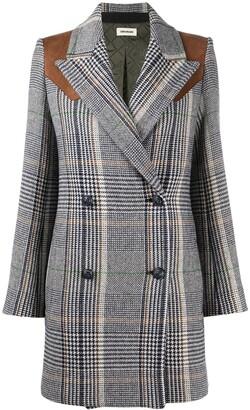 Zadig & Voltaire Motty Carreaux check-print coat