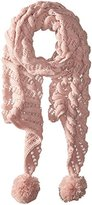 Betsey Johnson Women's Wrap It Up Muffler with Pom