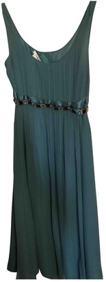 LK Bennett Green Silk Dress for Women
