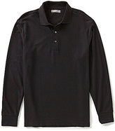Daniel Cremieux Signature Long-Sleeve Solid Luxury Pique Polo Shirt