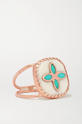 Pascale Monvoisin Bowie N2 9-karat Rose Gold, Resin And Turquoise Ring