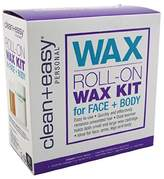 Clean + Easy Clean & Easy Clean+Easy Wax Roll-On Wax Kit For Face And Body