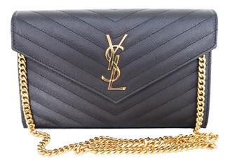 Saint Laurent Portefeuille enveloppe Black Leather Clutch bags