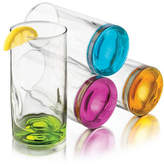 Libbey Set of Four Coloured Impressions Tall Glasses
