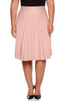 Boutique + Ashley Nell Tipton for Boutique+ Pleated Faux-Leather Skirt - Plus