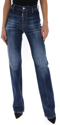 DSQUARED2 High Waisted Flare Jeans