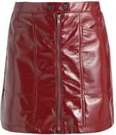 New Look Petite RUBY CRACKED HIGH SHINE Mini skirt red