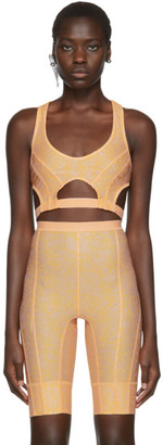 Charlotte Knowles SSENSE Exclusive Pink Vyper Sports Bra
