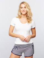 A Pea in the Pod Ruched Maternity Sleep Shorts