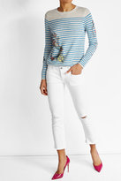 Zadig & Voltaire Striped and Embellished Cashmere Top