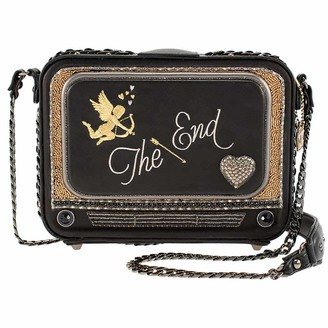 Mary Frances Late Night TV Embellished Crossbody Novelty Handbag