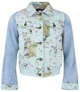 Scotch R'Belle Flamingo Print Denim Jacket