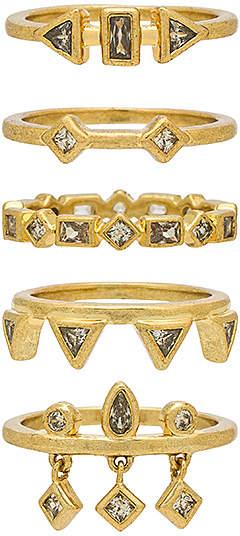 Luv Aj The Medley Stone Ring Set