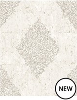 Graham & Brown Cork Medallion Cream/Pale Gold Boutique Wallpaper