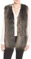 Via Spiga Women's Collarless Faux Fur Vest