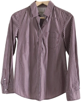 Max Mara Burgundy Cotton Top for Women