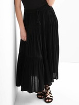 Gap Drapey tier maxi skirt