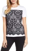 Draper James Women's Lace Panel Tee