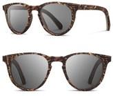 Shwood 'Belmont Flower' 51mm Polarized Wood Sunglasses
