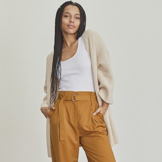 Elizabeth and James Women's Open Ribbed Long Cardigan