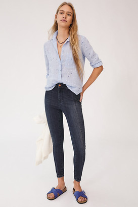 Pilcro And The Letterpress Pilcro Seamed High-Rise Denim Leggings By in Blue Size 24