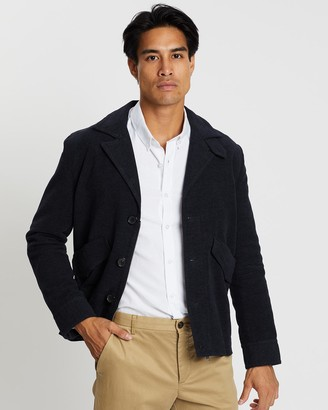 Cerruti Waffle Weave Classic Button-Up Jacket