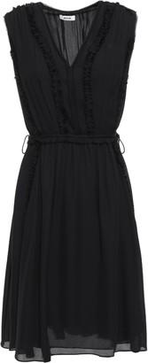 Jason Wu Pleated Silk-georgette Mini Dress
