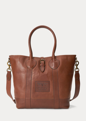 Ralph Lauren Heritage Tumbled Leather Tote