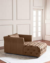 Hooker Furniture Sandra Tufted Leather Chaise