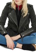 Topshop Women's Suede Moto Jacket