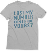 Mighty Fine Men's Lost Without Your Number Graphic-Print Cotton T-Shirt