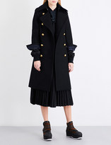 Sacai Shell underlay boiled-wool coat
